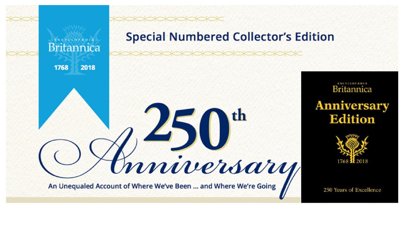 Britannica - anniversary yearbook 250 years - Prior ro
